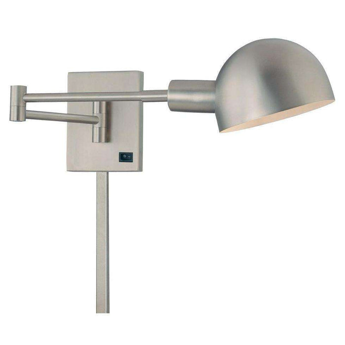 P3 1 Light Swing Arm Wall Sconce Matte Brushed Nickel