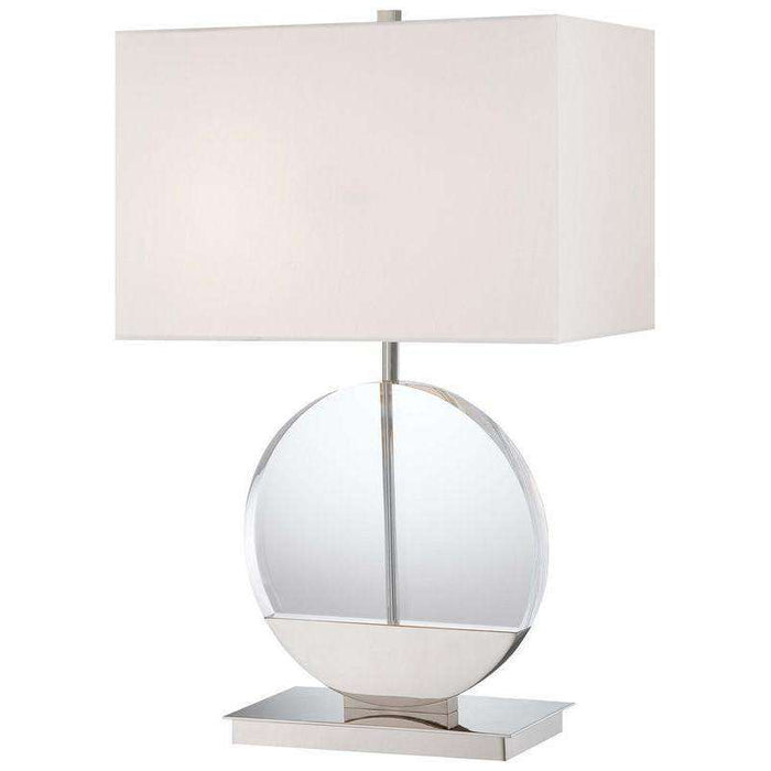 2 Light Table Lamp Polished Nickel