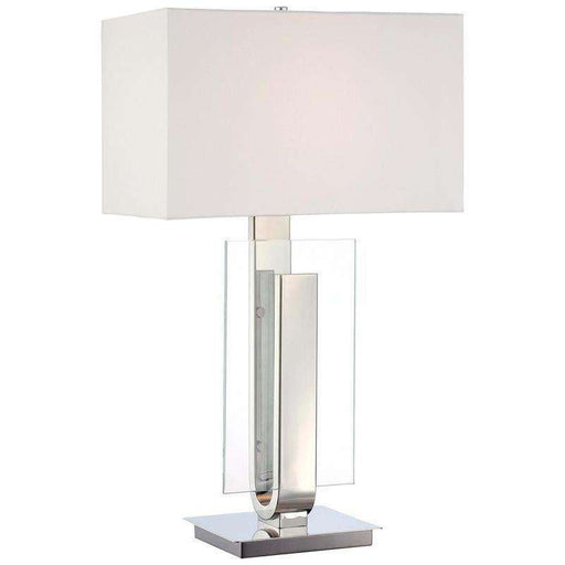 1 Light Table Lamp Polished Nickel