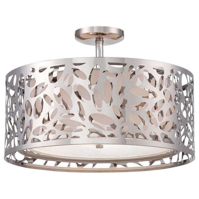 Layover 2 Light Semi Flush Mount Chrome