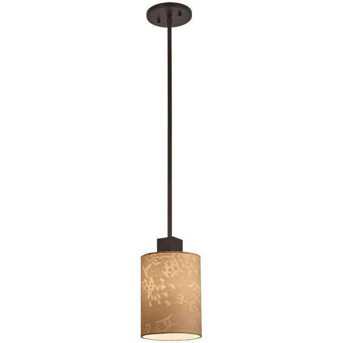 Kimono 1 Light Mini Pendant Antique Dorian Bronze