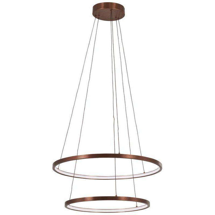 Full Orbit Led Pendant Satin Bronze