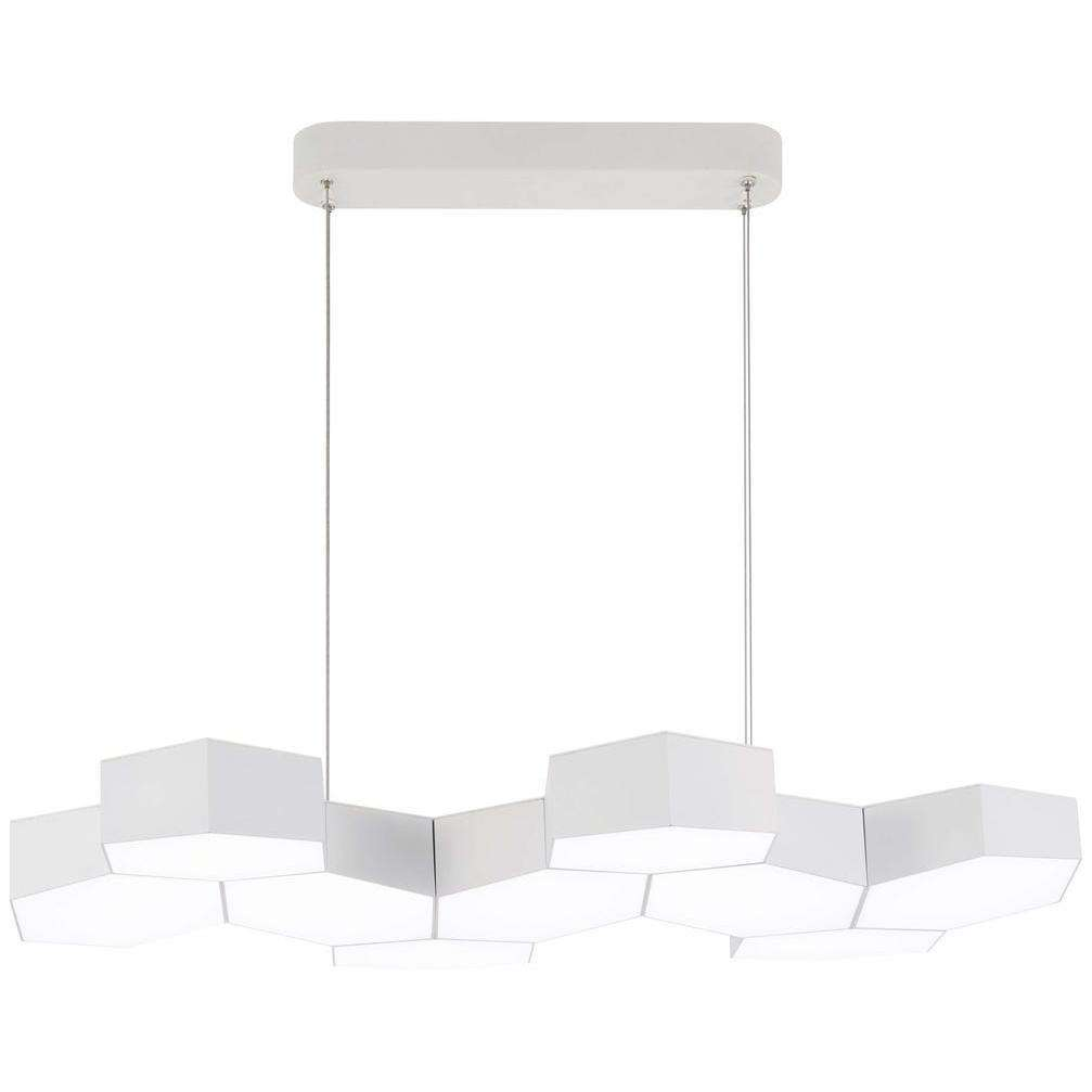 Hexacomb Led Pendant Matte White