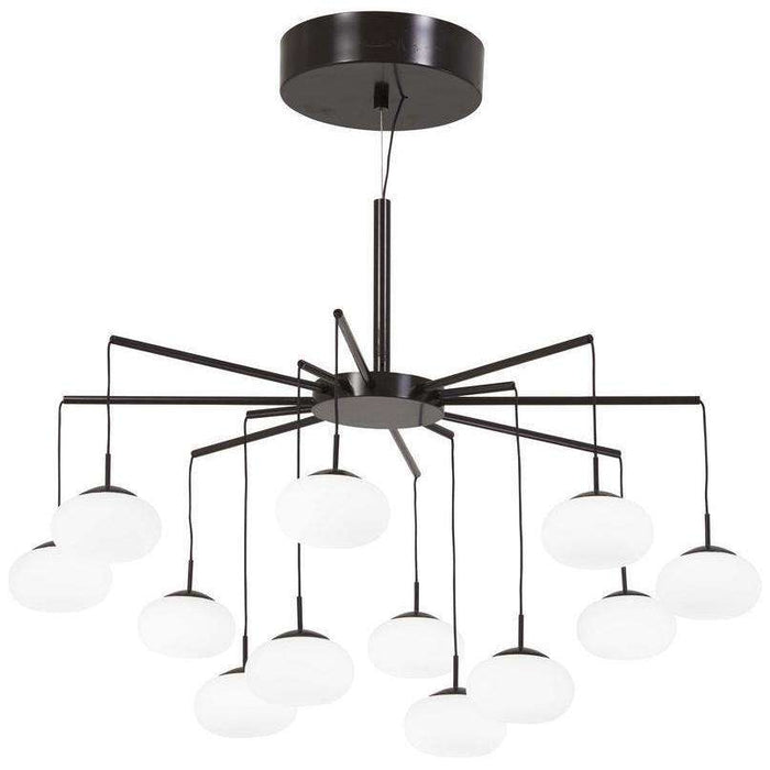 George'S Web Led Chandelier(Convertible To Semi Flush) Bronze W/Gold Dust