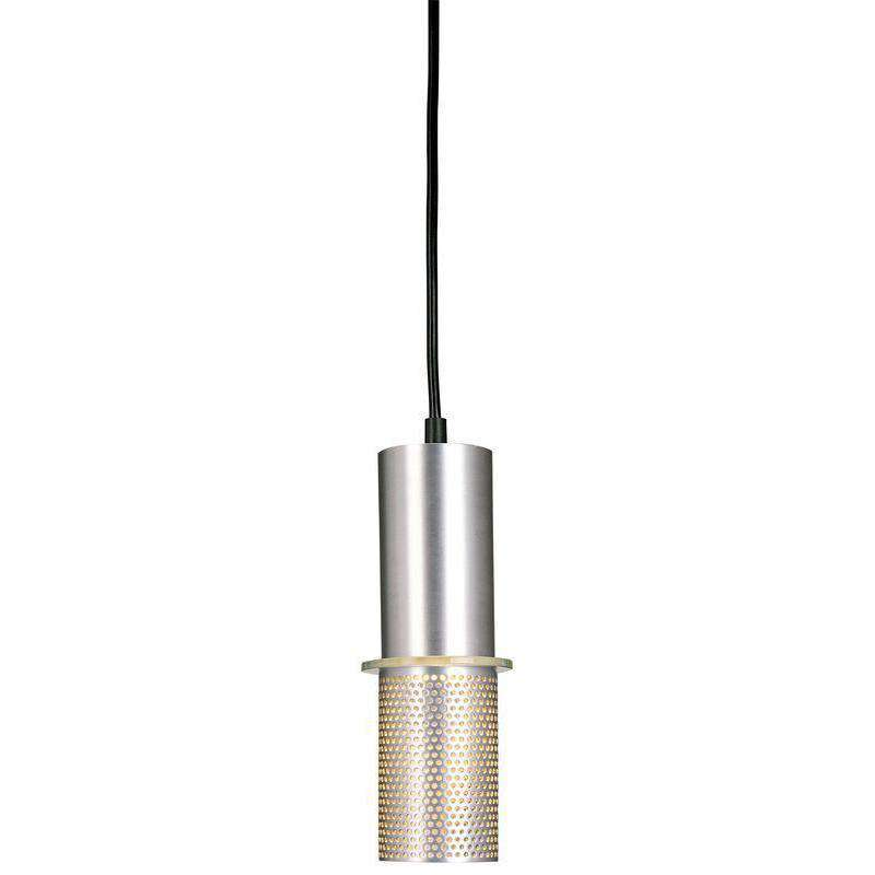 Larry 1 Light Mini Pendant Satin Aluminum
