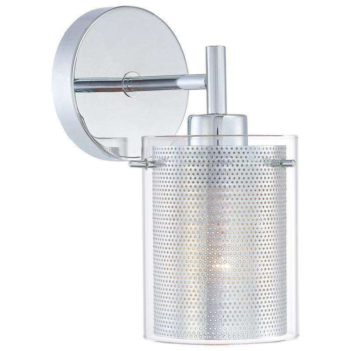 Grid 1 Light Wall Sconce Chrome