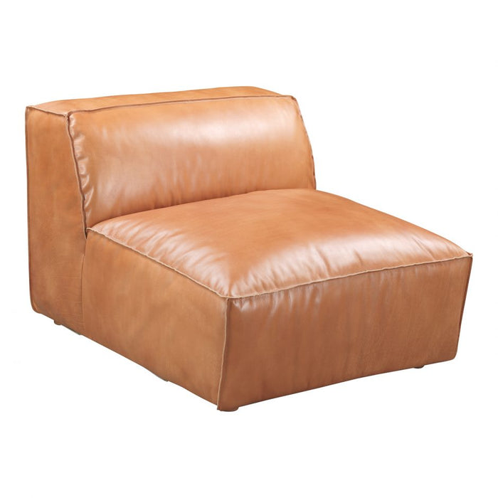 LUXE SLIPPER CHAIR TAN