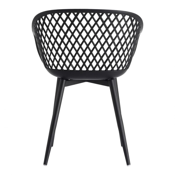 PIAZZA OUTDOOR CHAIR BLACK- SET OF 2