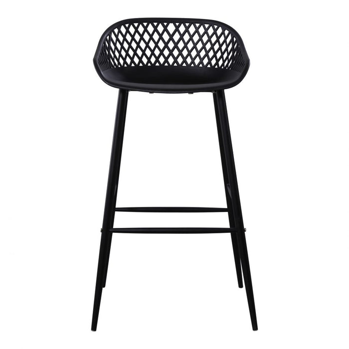 PIAZZA OUTDOOR BARSTOOL BLACK- SET OF 2