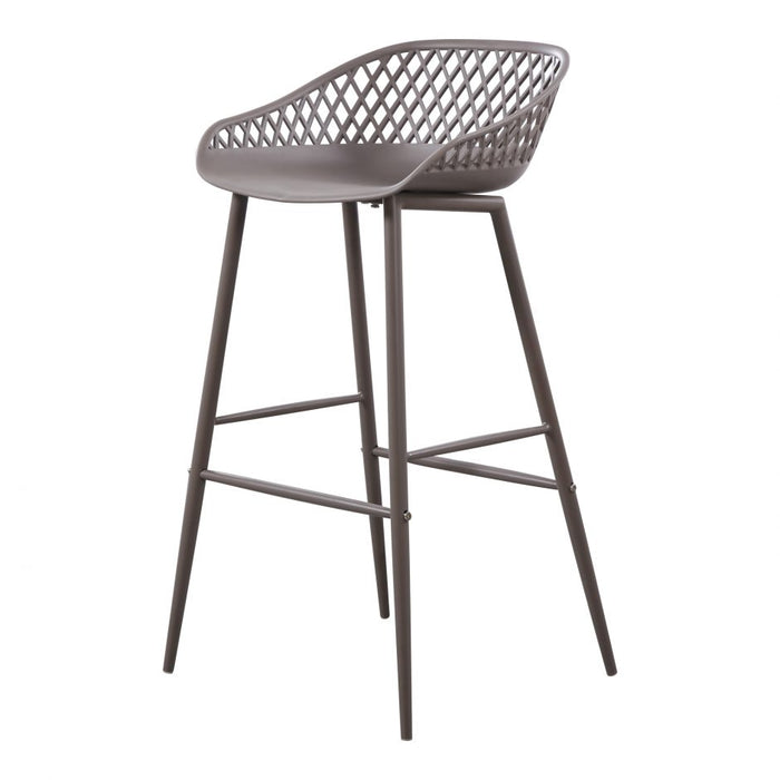 PIAZZA OUTDOOR BARSTOOL GREY- SET OF 2