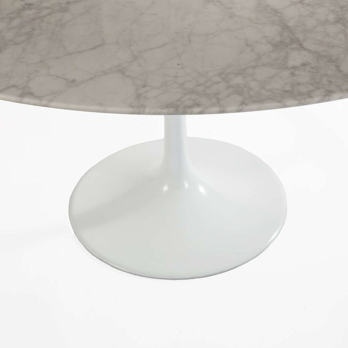 "Carrara Marble Tulip Dining Table - 36"" Round"