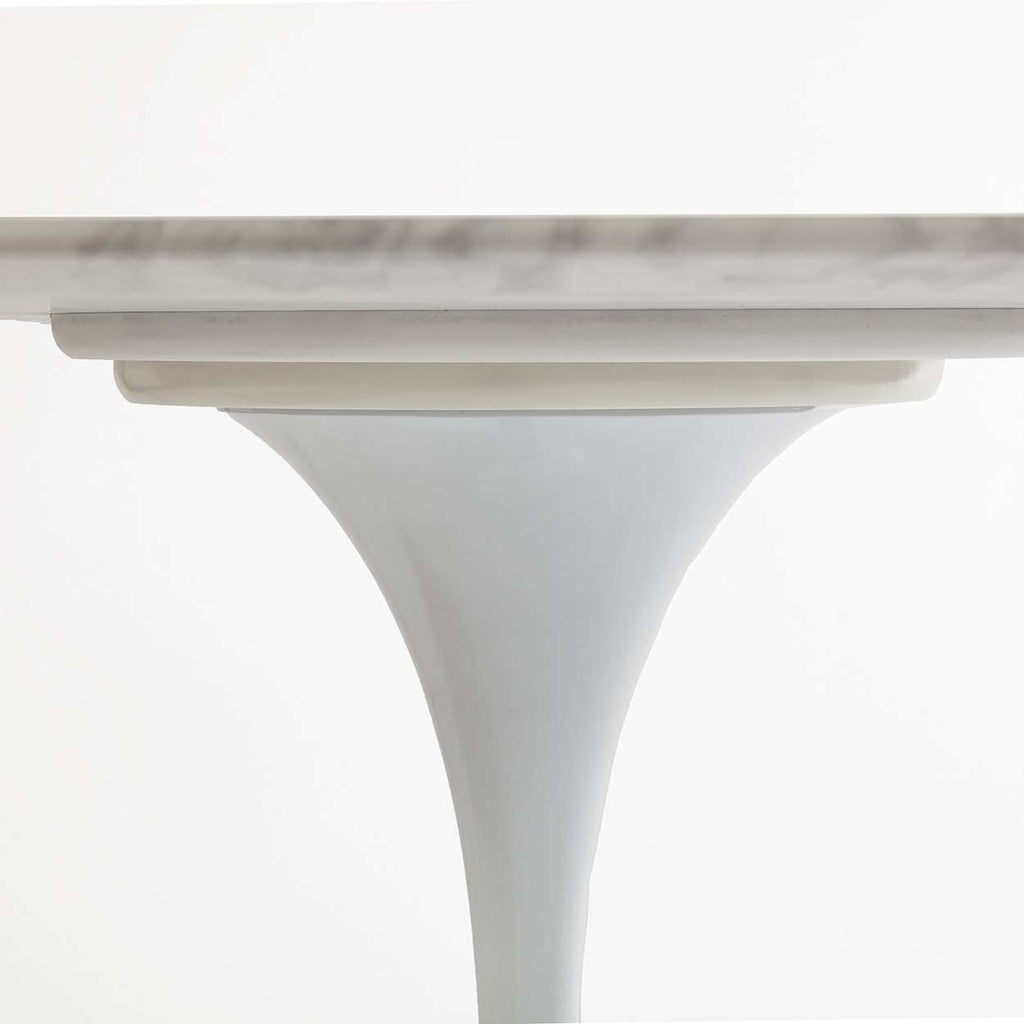 "Carrara Marble Tulip Dining Table - 42"" Round [staff pick]"