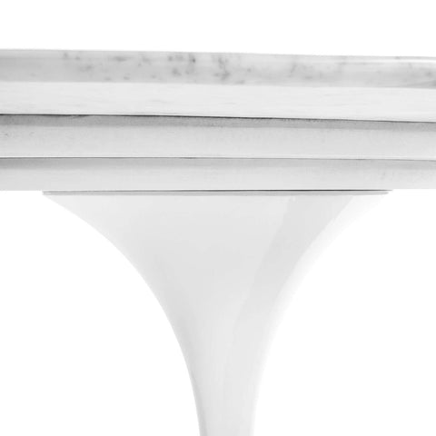 "Italian Marble Tulip Dining Table - 79"" x 42"" Oval"