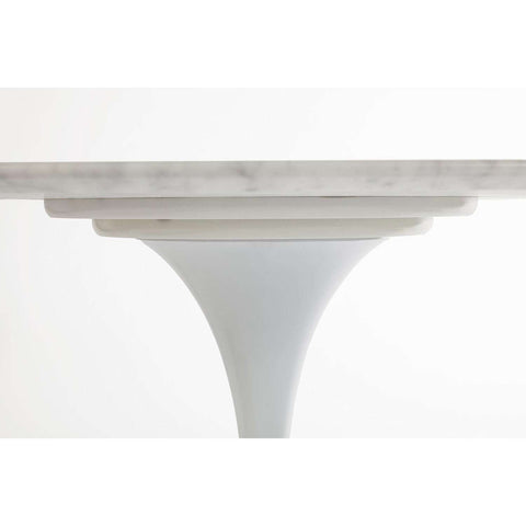 "Carrara Marble Tulip Dining Table - 67"" x 43"" Oval [staff pick]"