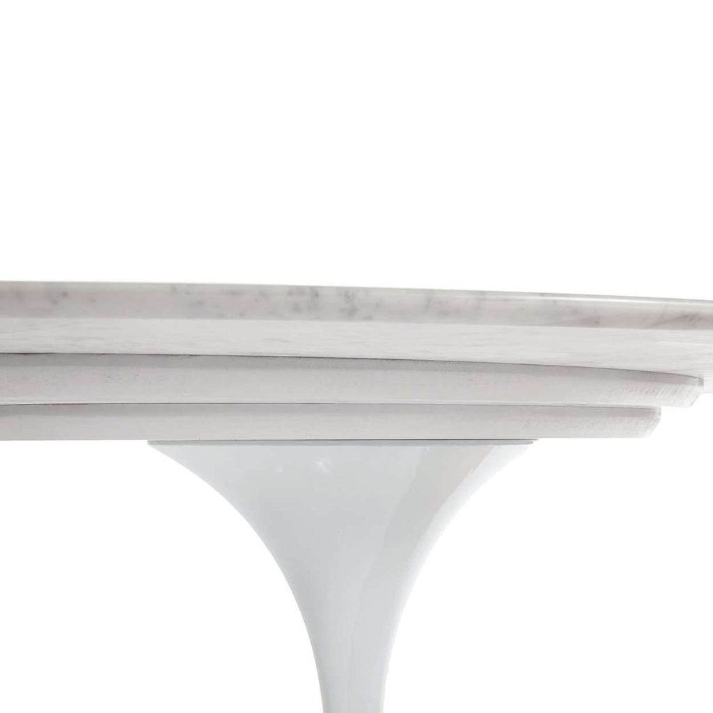 Mid Century Modern Reproduction Marble Tulip Dining Table