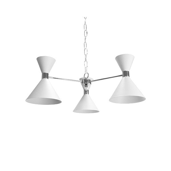 Three Light Metal Shade Chandelier
