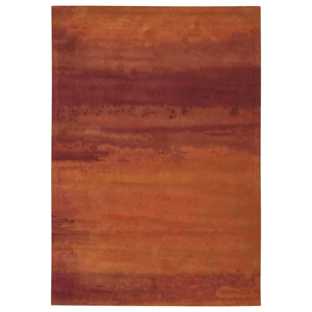 Calvin Klein Home Luster Wash Russet Tones Rust Area Rug