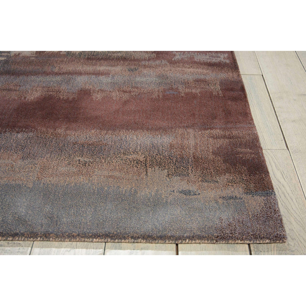 Calvin Klein Home Luster Wash Chrome Wash Slate Area Rug