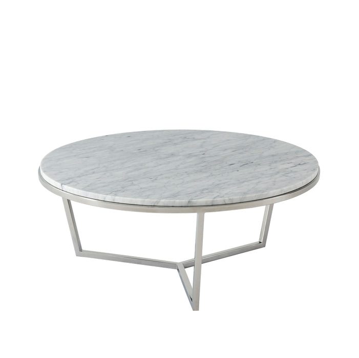Small Fisher Round Cocktail Table (Marble)