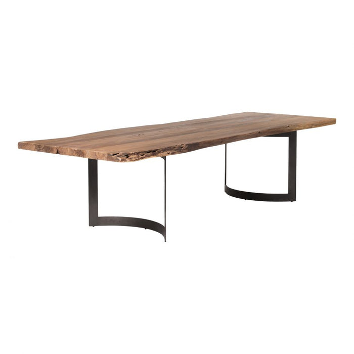 BENT DINING TABLE EXTRA SMALL SMOKED