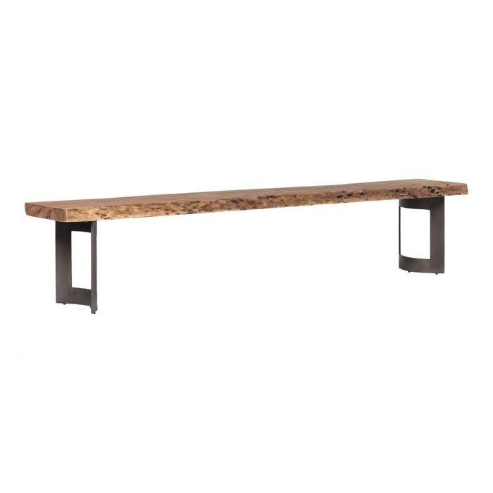 BENT BENCH LARGE SMOKED