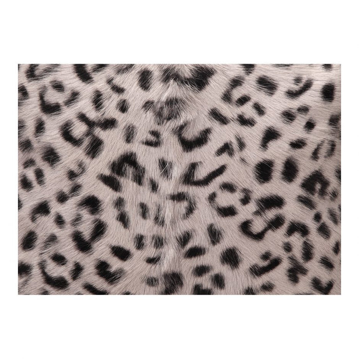 SPOTTED GOAT FUR PILLOW GREY LEOPARD