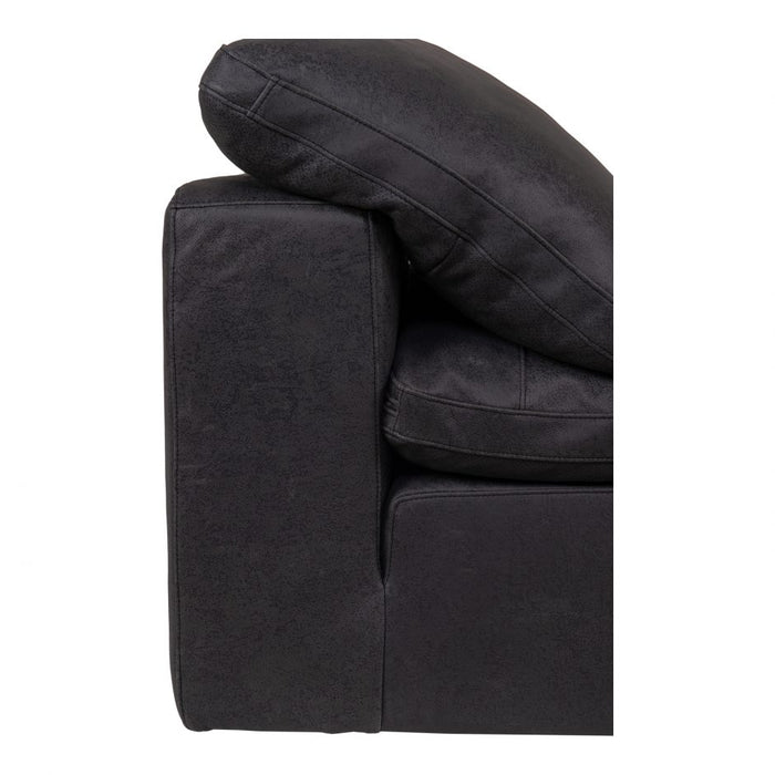 CLAY ARMLESS CHAIR NUBUCK LEATHER BLACK