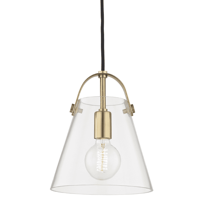 Karin 1 Light Small Pendant - Aged Brass