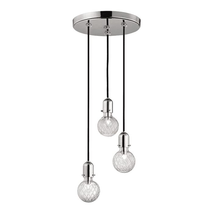 Marlow 3 Light Pendant Polished Nickel