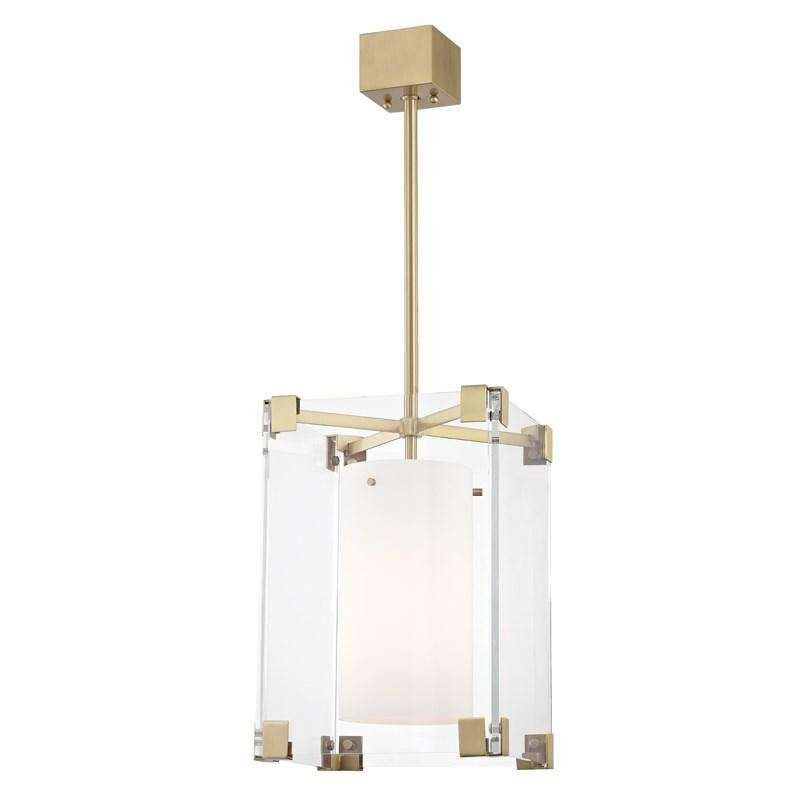 Achilles 1 Light Small Pendant Aged Brass