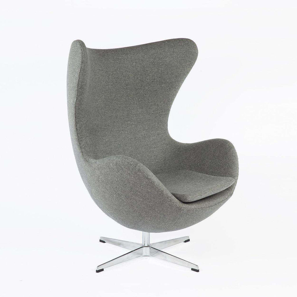 Mid Century Arne Jacobsen Style  Egg Chair Grey