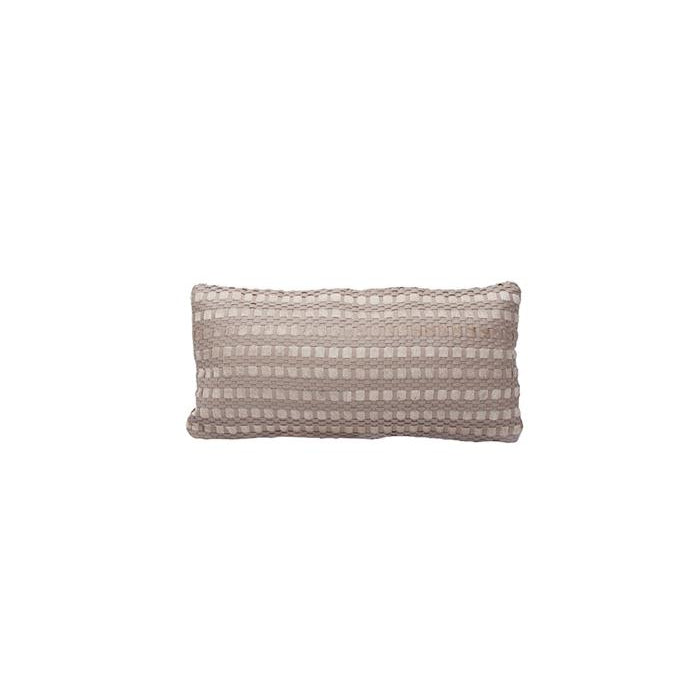 Plaid woven leather pillow EA