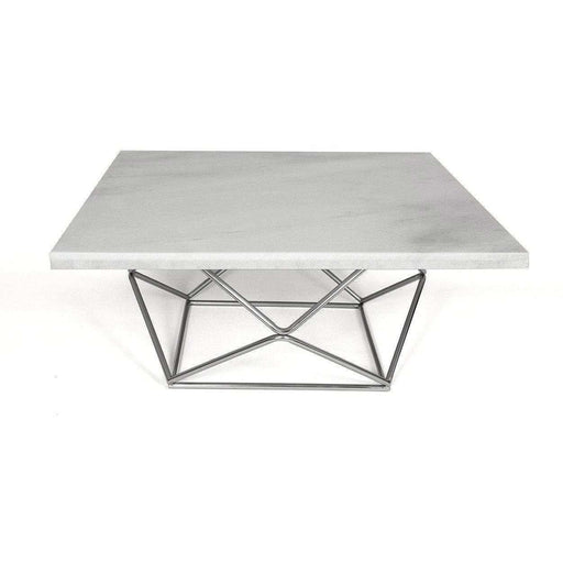 Mid-Century Modern Reproduction Marble Geometric Coffee Table Inspired by Milo Baughman