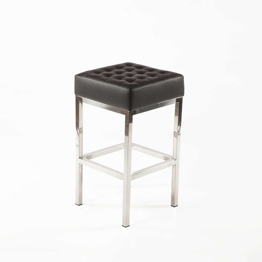 Mid Century Modern Vadso Counter Stool   Black Tufted Leather ...