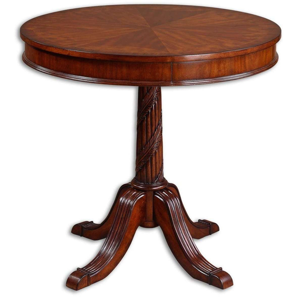 Uttermost Brakefield Pecan Round Table