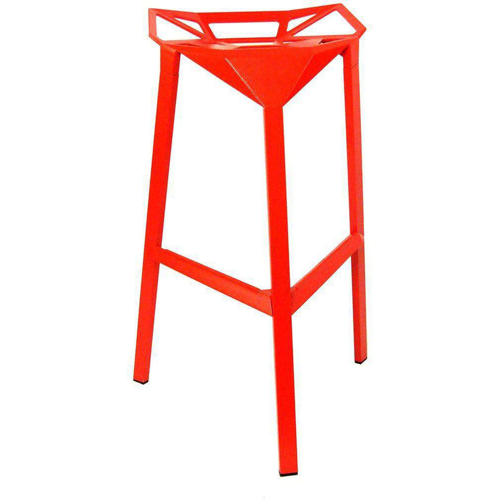 Mid-Century Modern Reproduction Stool One - Red Inspired by Konstantin Grcic