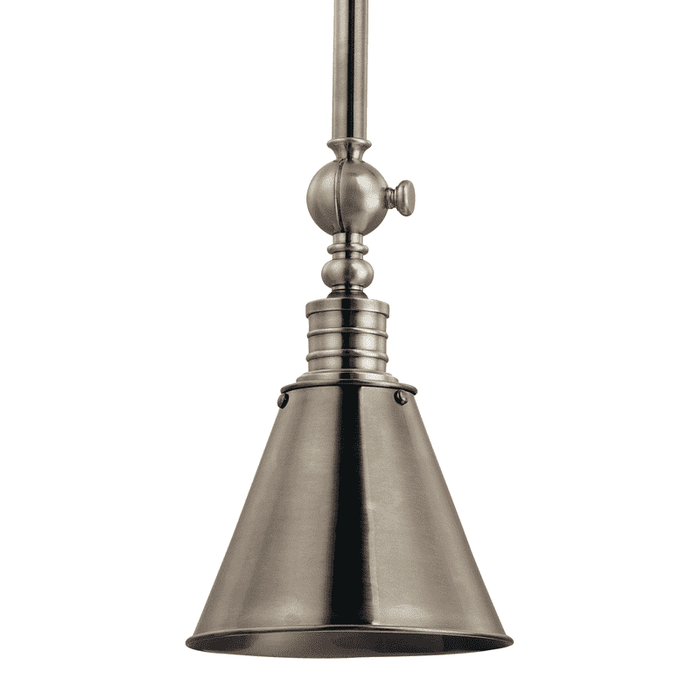 Darien 1 Light Pendant Historic Nickel