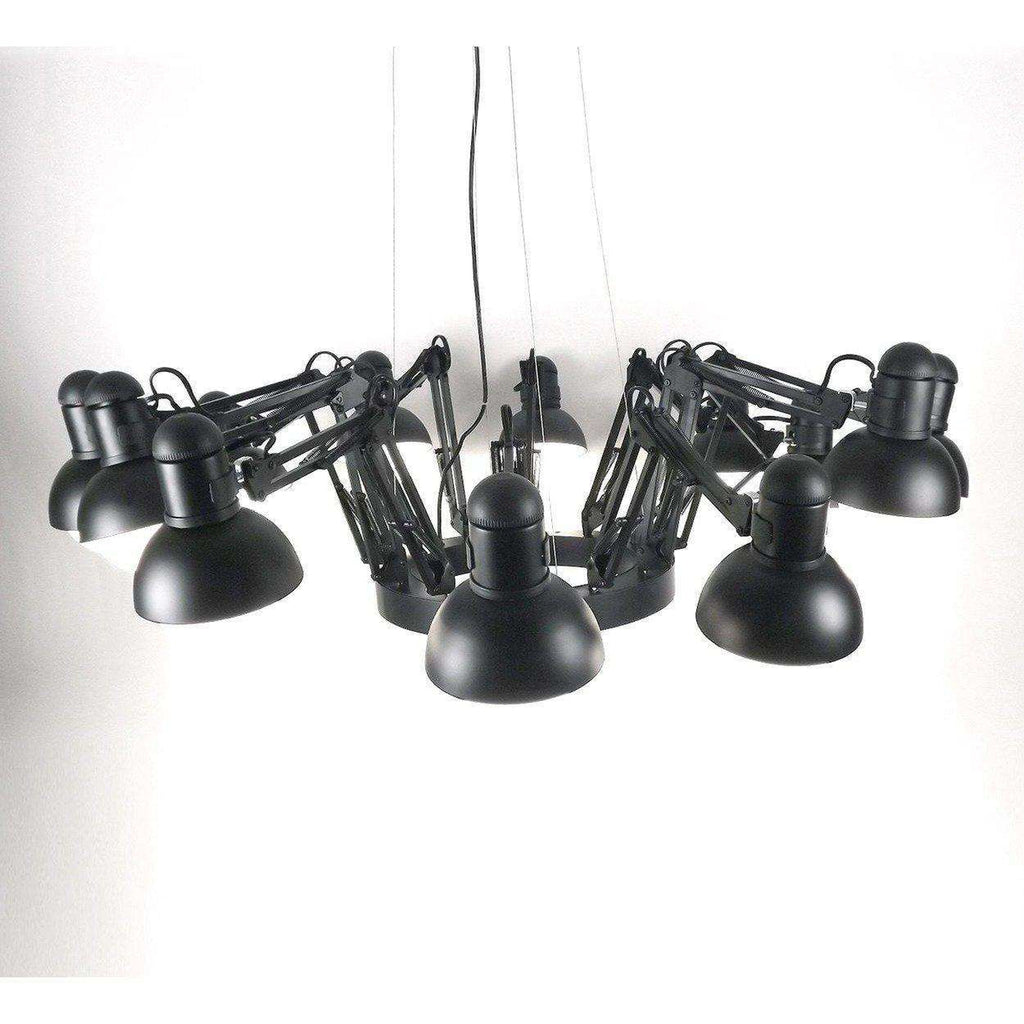Modern reproduction deer ing 12 light spotlight chandelier black modern reproduction deer ing 12 light spotlight chandelier black inspired by ron gilad mozeypictures Choice Image