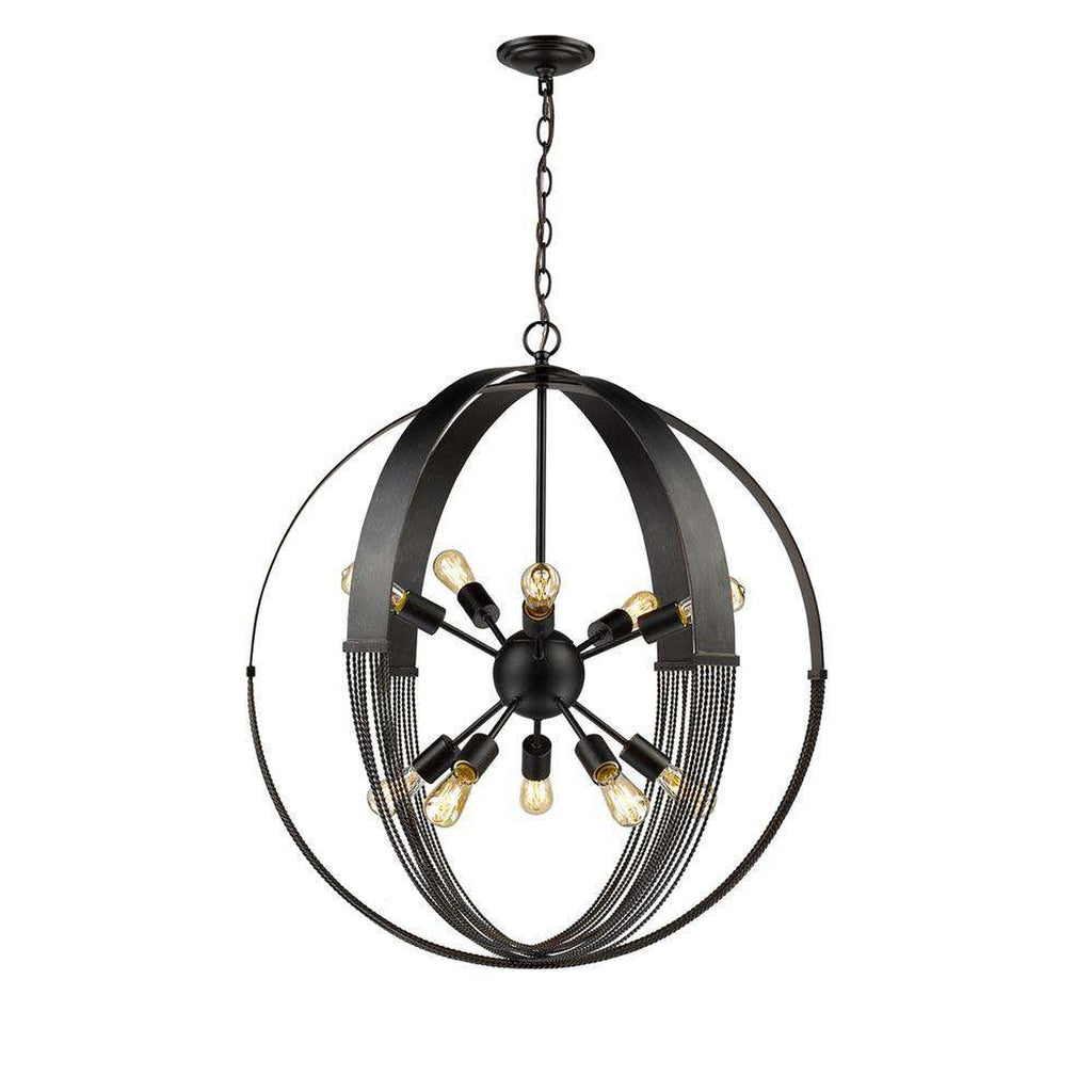 "Carter 10"" - Light Pendant in Aged Bronze"