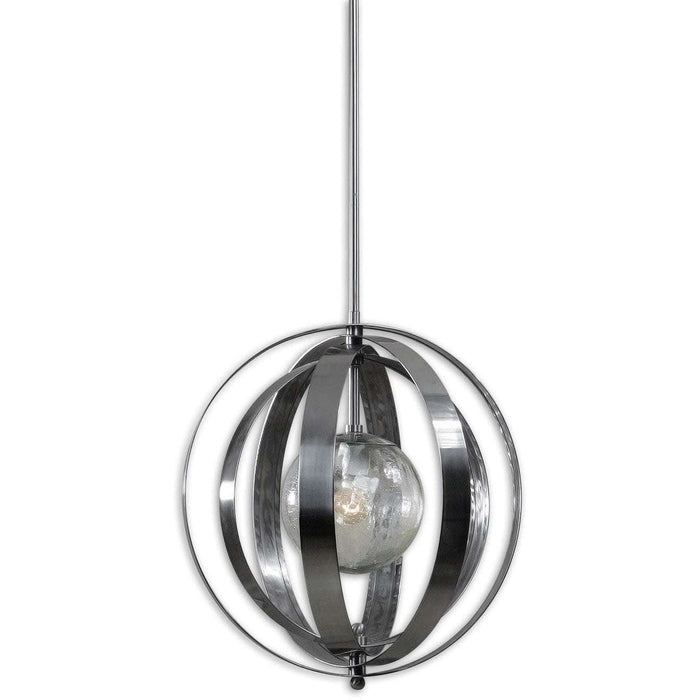 Uttermost Trofarello Silver 1 Light Pendant