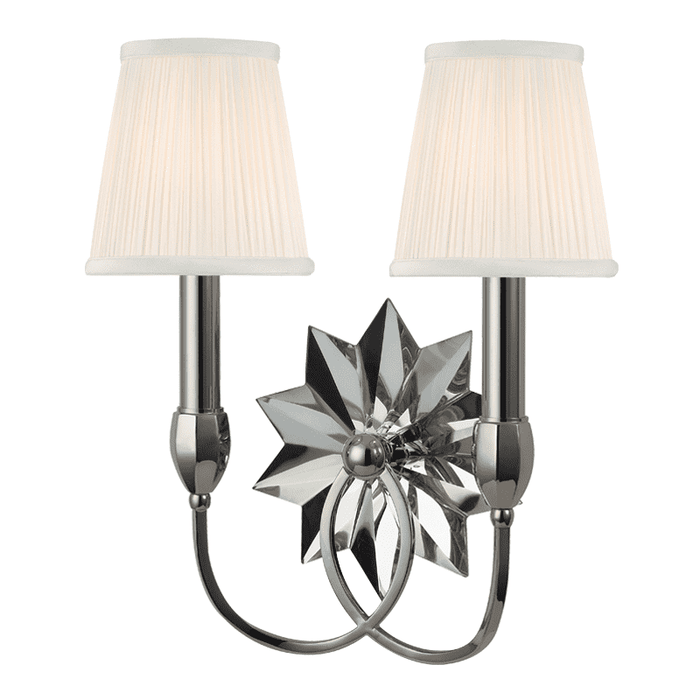 Barton 2 Light Wall Sconce Polished Nickel