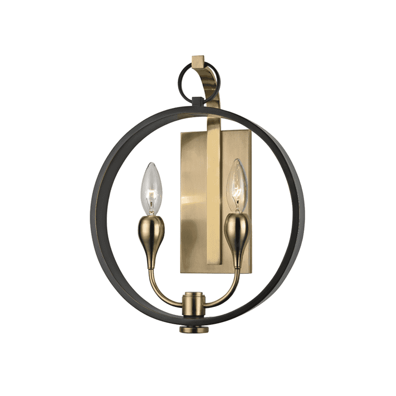 Dresden 2 Light Wall Sconce Aged Old Bronze
