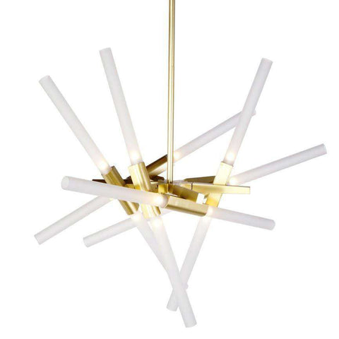 Astral Anges Chandelier - Twelve Bulb Branching Chandelier