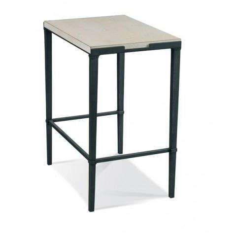Bailey Rectangular Side Table - Slate