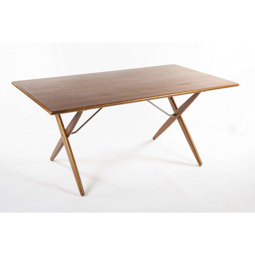 Mid-Century Modern Reproduction AT303 X-Base Dining Table Inspired by Hans Wegner