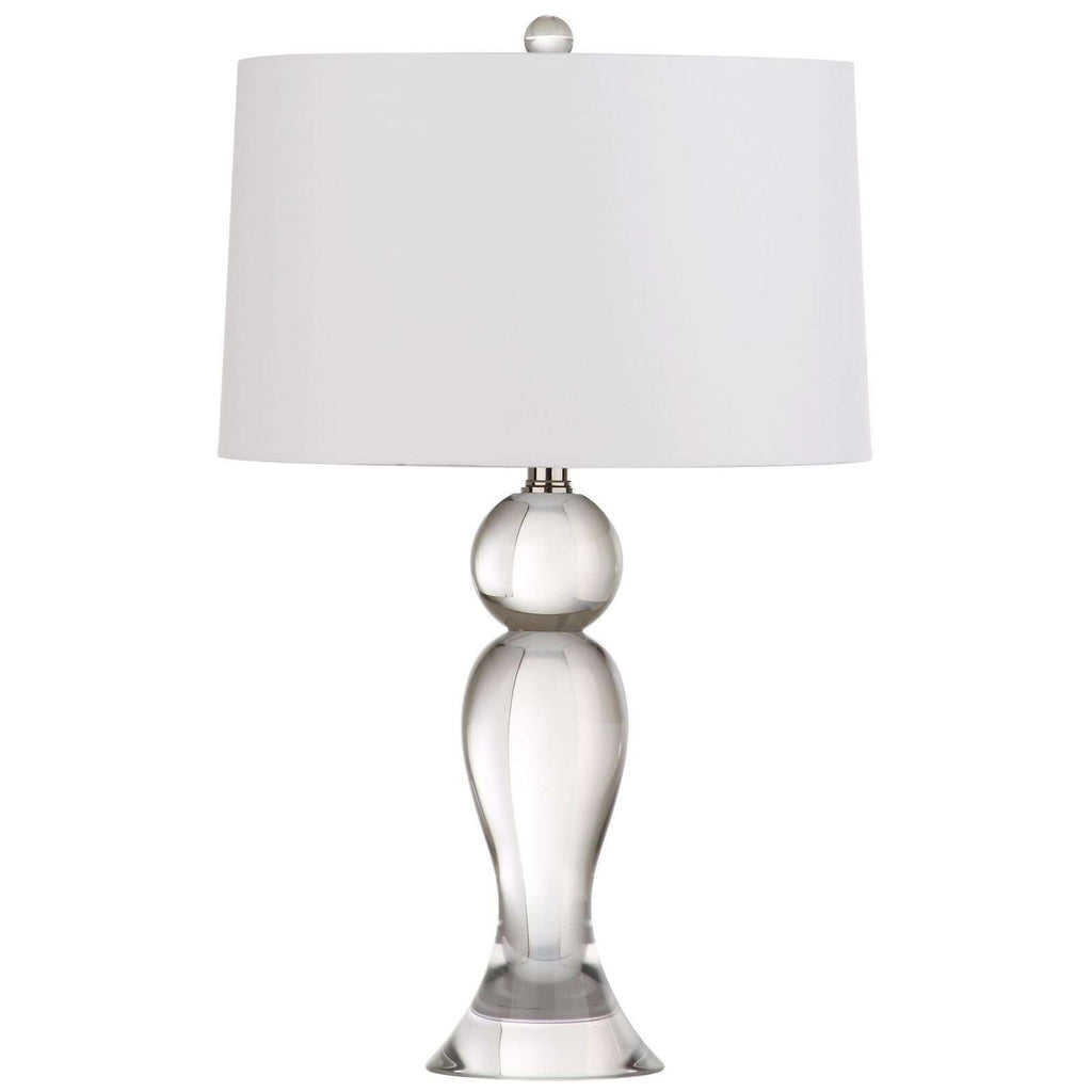 "24""H Shapely Crystal Table Lamp"