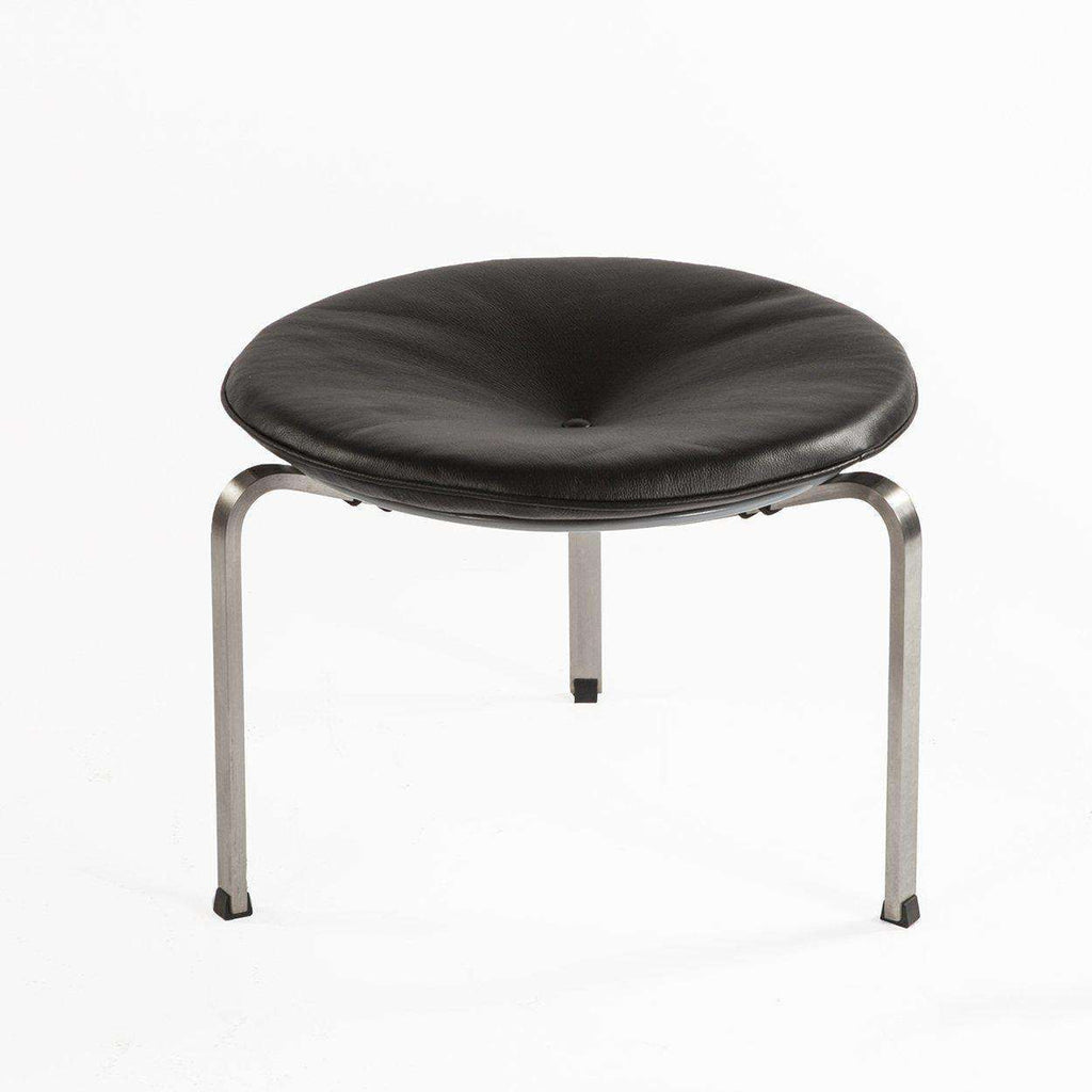Mid-Century Modern Reproduction Pk33 Stool - Black Inspired by Poul Kjaerholm