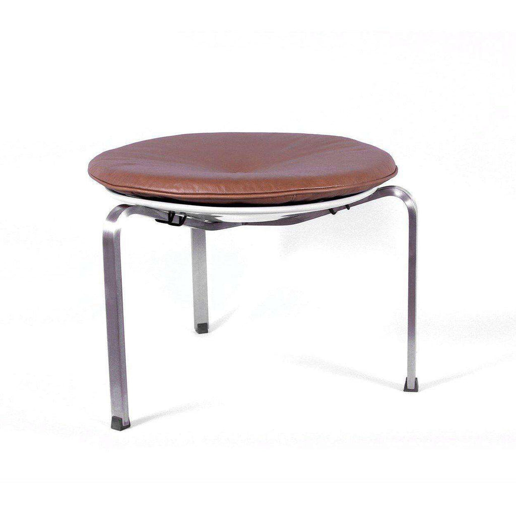 Mid-Century Modern Reproduction Pk33 Stool - Tan Inspired by Poul Kjaerholm