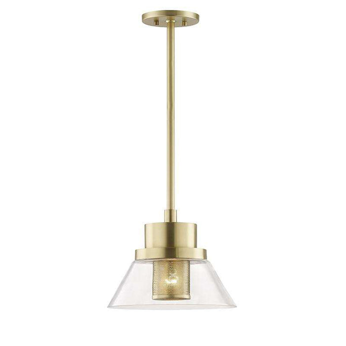 Paoli 1 Light Small Pendant Aged Brass