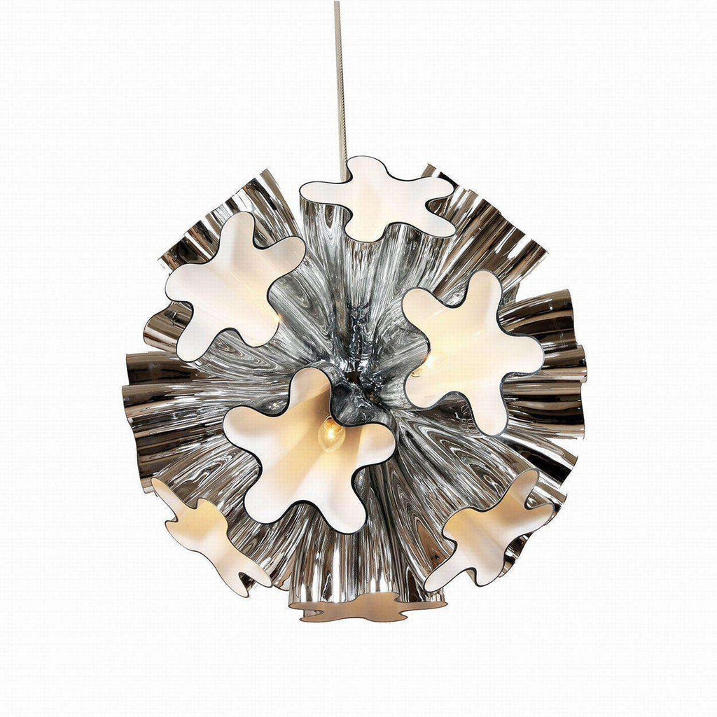 Mid-Century Modern Reproduction Blum Suspension Light - Chrome Inspired by Marcello Furlan